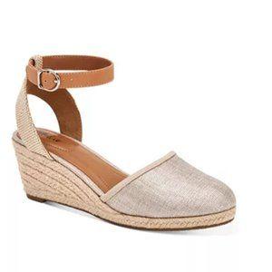 Style Co Mailena Metallic Espadrille Sandals 9.5 W